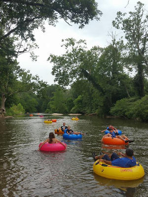 Whitewater tubing in NC